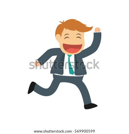 Successful Businessman Cartoon Icon Vector Illustration ...