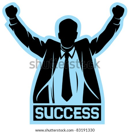 successful businessman (success) - stock vector