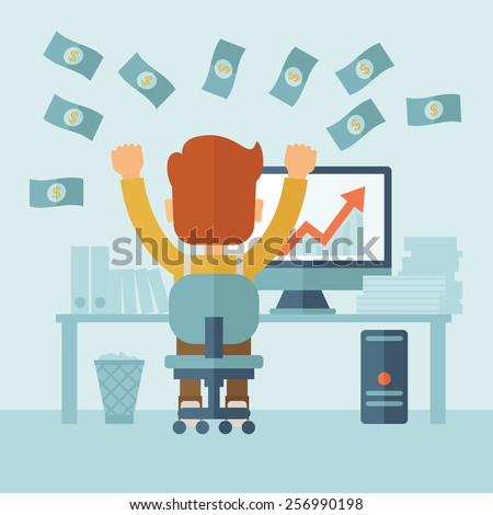 Successful Businessman with a Lot of Money. - stock vector