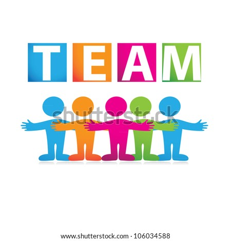 successful team - stock vector