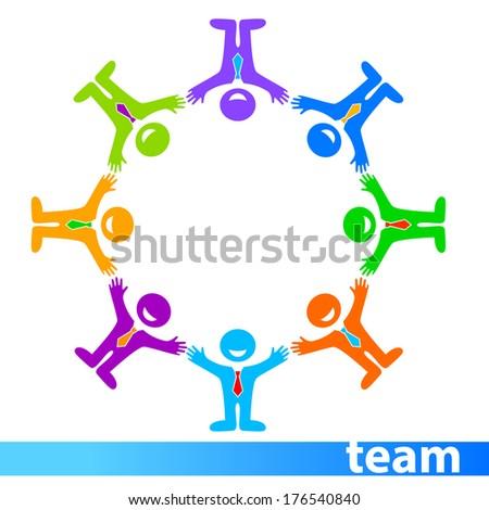 successful team - stock vector