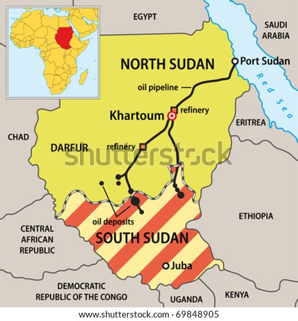 Sudan political map new borders vector stock vector 69848905 sudan political map with new borders vector illustration of actual political situation in sudan gumiabroncs Gallery