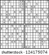 Sudoku - stock photo