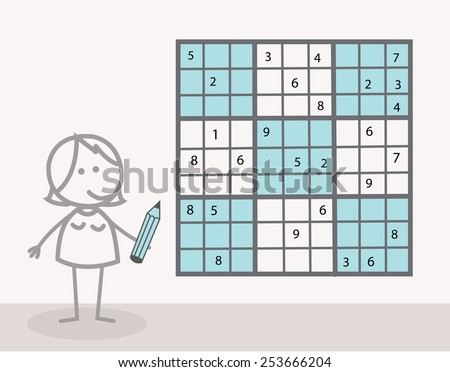 Sudoku  - stock vector
