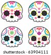 Sugar skull from Day of the Death. Cool Vector Style. - stock vector