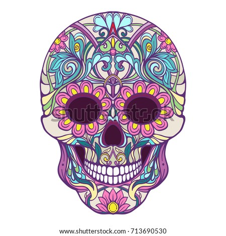 Sugar Skull The Traditional Symbol Of Day Dead