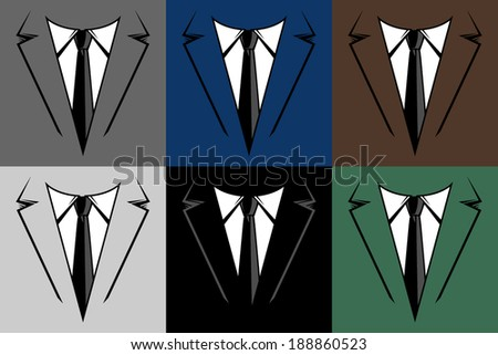 Suit and tie vector illustration