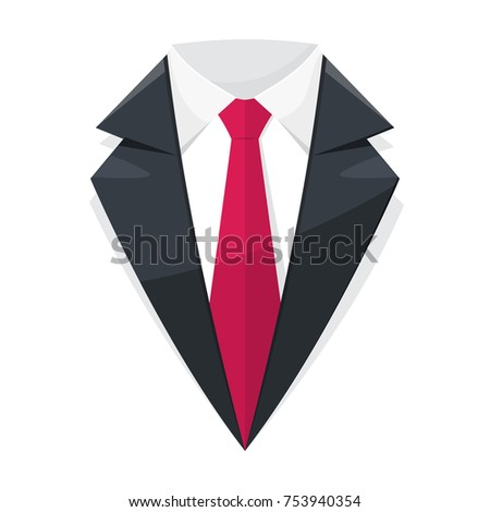 Suit Logo Icon Design. Vector illustration