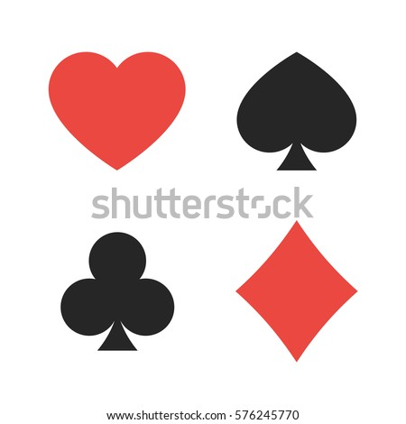 Suit Playing Cards Vector Illustration Symbols Stock Vector Hd