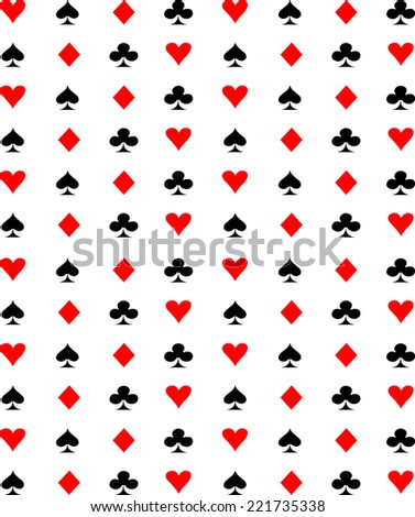Suit playing card symbols pattern