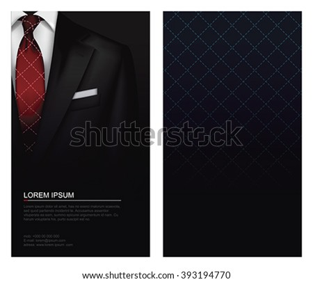 Suit vector background with tie - stock vector