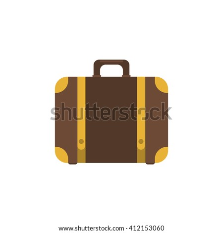 Suitcase icon.Flat design style modern illustration.Suitcase vector illustration.Suitcase isolated on a white background.Suitcases travel.Illustration for travel, holidays, trips. Suitcases vacation.  - stock vector