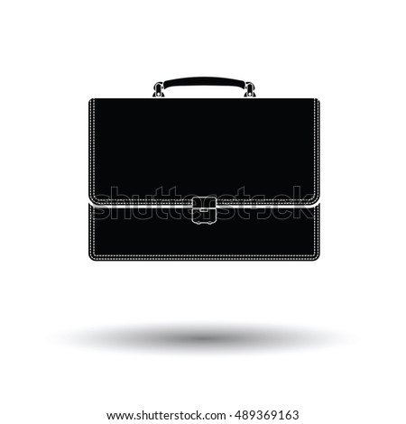 Suitcase icon. White background with shadow design. Vector illustration.