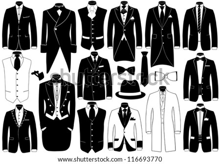 Suits illustration set - stock vector