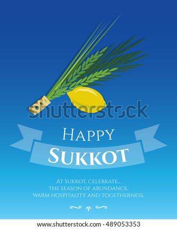 Sukkot festival greeting card design vector stock vector 489053353 sukkot festival greeting card design vector template greeting text happy sukkot traditional jewish sukkot m4hsunfo