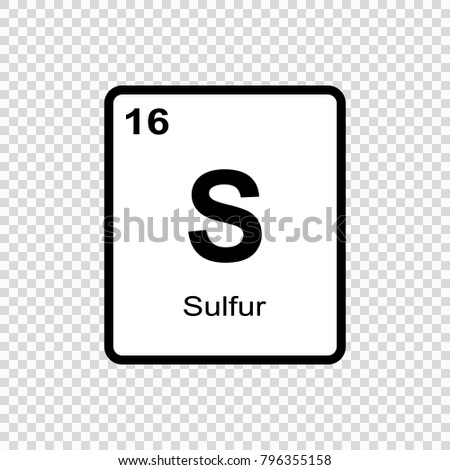 Symbol chemical element sulfur seen on stock vector 655292665 sulfur chemical element sign with atomic number chemical element of periodic table urtaz Image collections