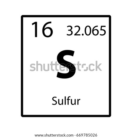 Sulfur Periodic Table Element Icon On Stock Vector Royalty Free