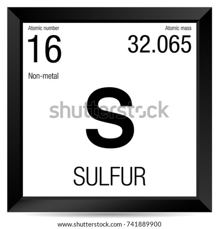 Sulfur symbol element number 16 periodic stock vector 741889900 sulfur symbol element number 16 of the periodic table of the elements chemistry urtaz Image collections