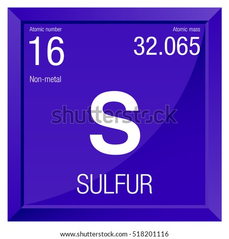 Sulfur symbol element number 16 periodic stock vector 518201116 element number 16 of the periodic table of the elements chemistry urtaz Images