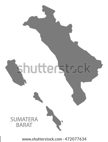 Sumatera Barat Indonesia Map in grey