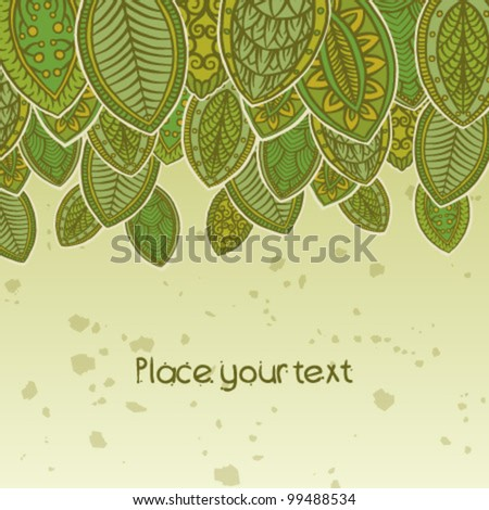 summer Abstract floral background with place for your text 8 - stock vector
