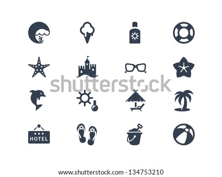 Summer and beach icons - stock vector