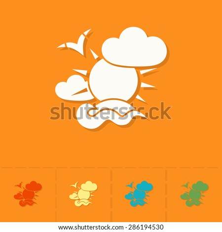 Summer and Beach Simple Flat Icons. Vector - stock vector