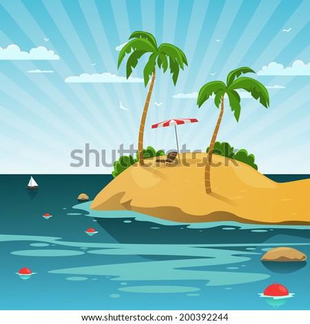 Summer Background - stock vector