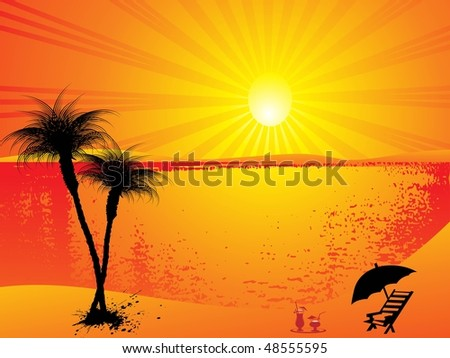 summer background - stock vector