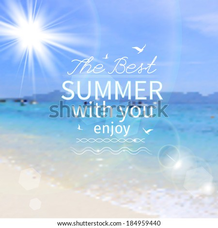 Summer background, vector