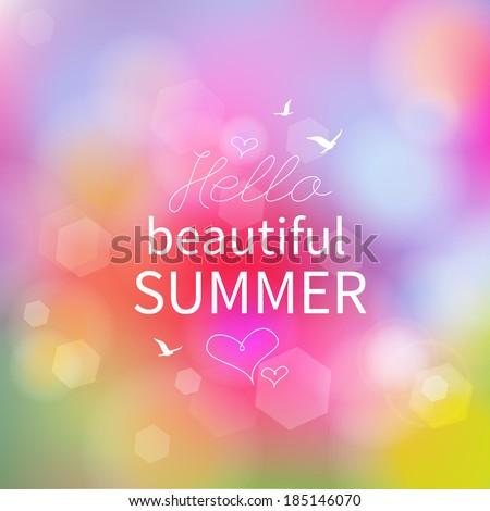 Summer background, vector - stock vector