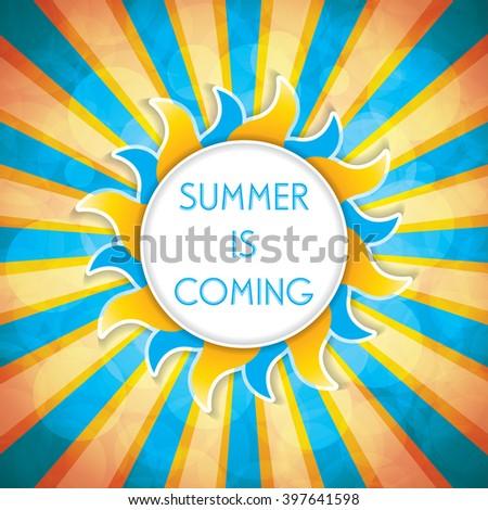 Summer background.Vector - stock vector