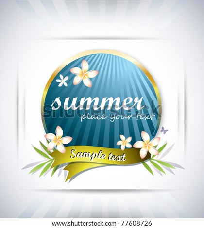 Summer background-vector