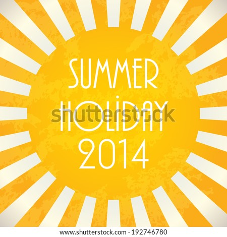 Summer background - 2014, vector illustration, EPS10 - stock vector