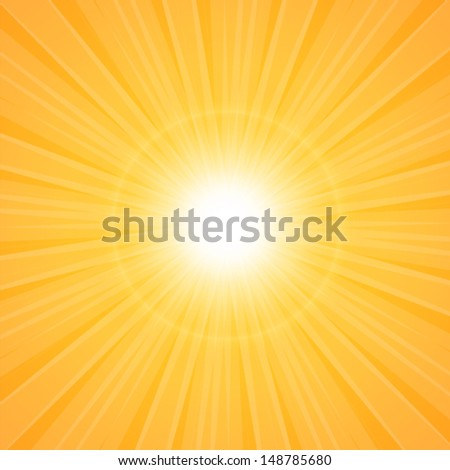 Summer background with a summer sun burst - stock vector