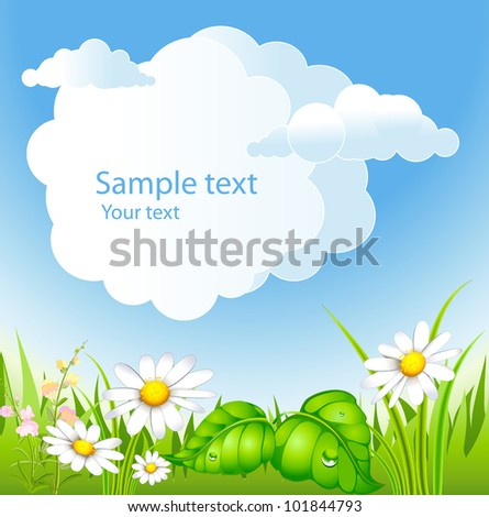 summer background with and blossoming meadow