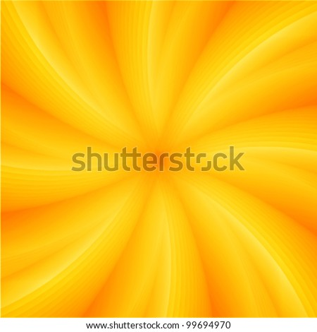 summer background with orange & yellow hot colors - stock vector