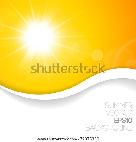 Summer background with place for your content - stock vector