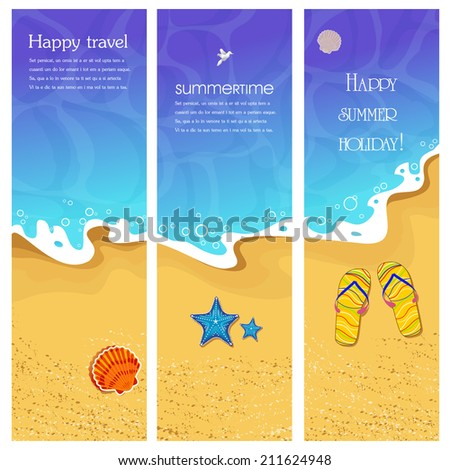 Summer banner: vector illustration