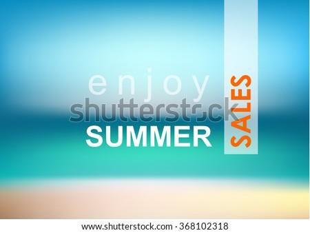 Summer beach blur - sales. - stock vector