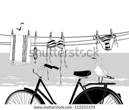 Summer beach holiday. - stock vector