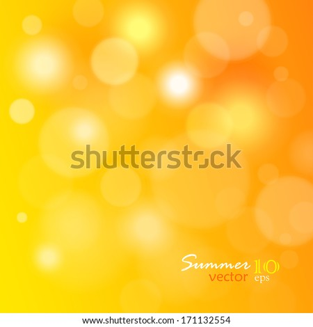 Summer blur spotted background, vector illustration - stock vector