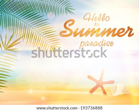 Summer calligraphic designs. EPS10 - stock vector