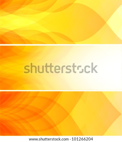 summer colors web banner set - stock vector