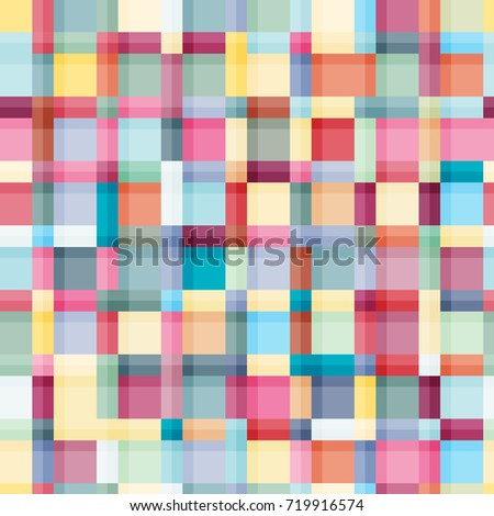 Summer colours, modern wave and mosaic blocks texture. Crazy colors seamless abstract vector pattern. Boho fashion style for prints