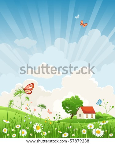 Summer day - stock vector