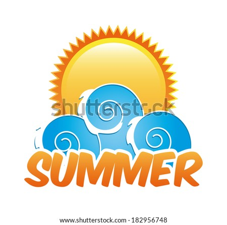Summer Design icon over white background. vector illustration