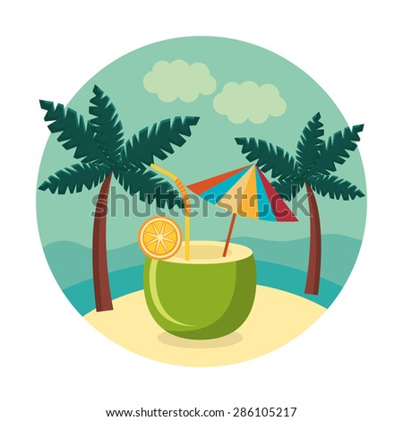 Summer design over white background, vector illustration.