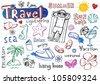 Summer doodle set, - stock vector