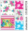 Summer Floral design. Use for backgrounds, paper craft or textiles projects - stock vector